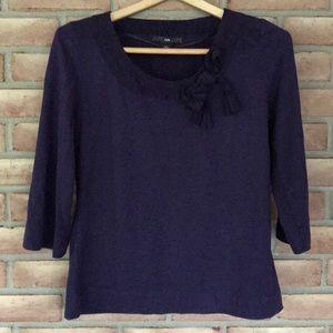 H&M size M 3/4 sleeve purple top